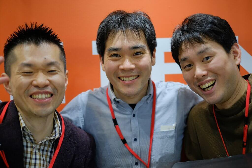 競技を終えて爽やかな笑顔の3人